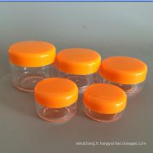 Vides en plastique petit pot de crème de corps