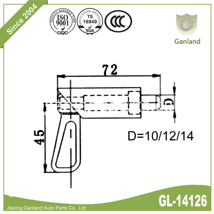 Weld On bolt GL-14126