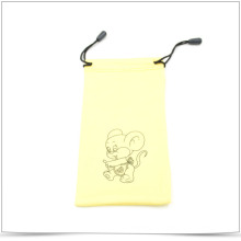 Custom Printed Microfiber Drawstring Bag for Phone