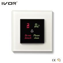 Hotel Doorbell System Outdoor Panel Glass Frame (HR-dB1000S2R-GL)