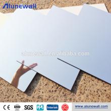 Silberne Aluminium-Verbundspiegelplatte mit 100% Glanzgrad