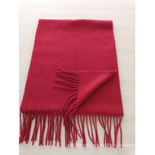 blend 50% cashmere 50% wool medium plain violet blue scarf