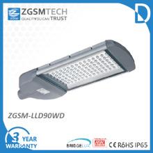 90W LED luz de calle con Chips Bridgelux y Driver Meanwell