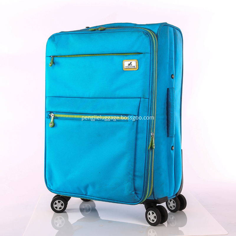 nylon fabric trolley luggage