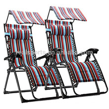 Realgroup Recliner Lounge Fishing Chair With Canopy Beach Chair With Sunshade