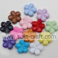 Loose Mixed Color Acrylic& Lucite Artificial Plum Flower Shape Solid Beads For Making Jewelry