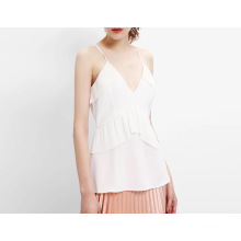 Summer Latest Sexy Slip Falbala Ladies Top