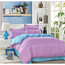 Hoja de cama de color para uso doméstico conjunto de ropa de cama de regalo