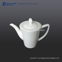 Olla de café árabe blanca llana 550ml, pote del café de la alta calidad de China