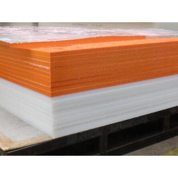 برتقالي اللون HDPE البولي ايثيلين ورقة من البلاستيك