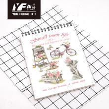 Cuaderno espiral vertical A4 del estilo de vida de la pequeña ciudad