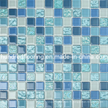 Mosaïque en mosaïque en mosaïque de cristal bleu (HGM215)