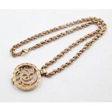 Nuevo collar del Locket de la memoria del acero inoxidable del oro de Rose de la llegada
