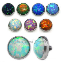 Opal Dermal Anchor Top 3mm Custom Skin Diver Jewelry
