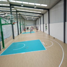 Revêtement de sol en PVC populaire de sports de basket-ball