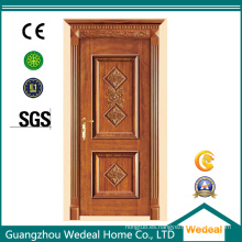 Personalice la puerta de núcleo sólido de madera maciza clásica para proyectos de viviendas