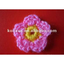 Accesorios de ropa flor de ganchillo