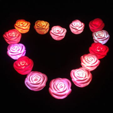 Romantic LED flower candle