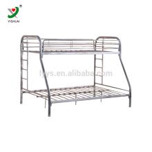 three seat metal bunk bed in school student dormitory room