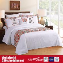 60S 330TC 173 * 156 Algodão Digital Print Bedding Set