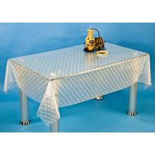 Toalha de mesa transparente e em relevo de PVC (TJ3D0008)