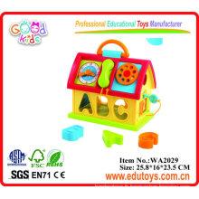 Plastic Learning House Toy pour enfants avec son