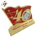 Professional Cheap Custom clock metal decorative souvenir birthday gift trophy cup for boyfriend