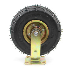 10 Inch Heavy Duty Flat Plate Directional Galvanized Inflatable Casters