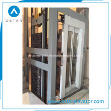 Elevator Parts with High Quality Glass Decoration Cabin (OS41)