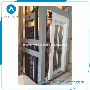 Peças do elevador com a cabine de alta qualidade da decoração do vidro (OS41)