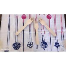 Wooden knife spork spoon set