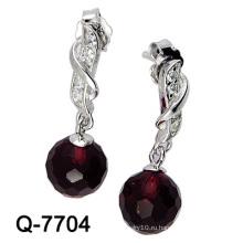 Новый дизайн 925 Серебряная мода серьги украшения (Q-7704. JPG)