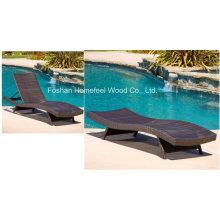 Лейкпорт Открытый регулируемый ПЭ Wicker Chaise Lounge Chair