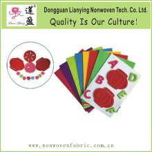 Hojas de papel de fieltro de poliéster de colores Fieltro de troquelado