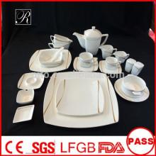 P & T ROYAL WARE ligne de mélodie de porcelaine vaisselle carrée nouveau produit chaud pour 2015