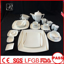 P&T ROYAL WARE porcelain melody line square dinnerware hot new product for 2015