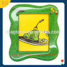 Green color yellow color photo frame fridge magnet