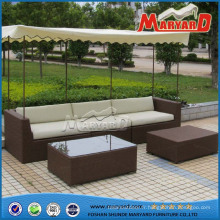 Meubles de sofa de jardin de rotin