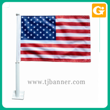 New promotion 12x18inch polyester american national car flag