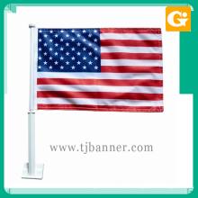 Nova promoção 12x18 polegada de poliéster bandeira do carro nacional americano