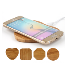 New Gifts Natural Bamboo Wooden Wireless Charger