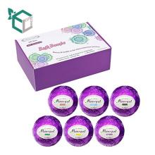 Caja de embalaje floral impresa aduana de la bomba del baño de la caja del aceite de semilla