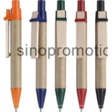 Mini logotipo personalizado eco plástico bola caneta (ym044)