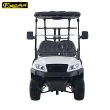 Red Aluminium Wheel Electric Golf Cart 4 Sitzer