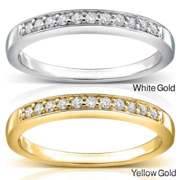 Venta al por mayor de la joyería 925 del anillo de diamante de la fila de la media fila