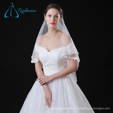 Tulle Wedding elegante nupcial encaje Catedral Veils