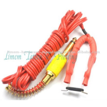 2012 hot sale cheap silicone tattoo footswitch clip cord for red color