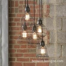 Antique Decorative Edison Style Bulb with Iron Lamp Bird Cage