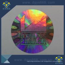 Haustier-Material Regenbogen-Farben-Hologramm-Aufkleber Sicherheits-Aufkleber