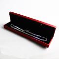 Лакированный красный пластиковый браслет со светодиодной подсветкой